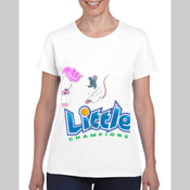 Little Champions - Masters - Gildan Missy Fit White Womens T Shirt SPECIAL